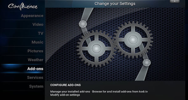 Addons Kodi option