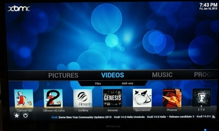 Using Kodi on Chromecast with Android
